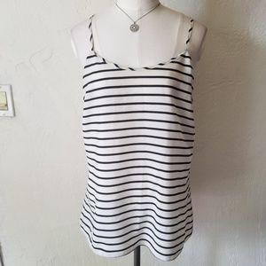 J. Crew black & white striped top